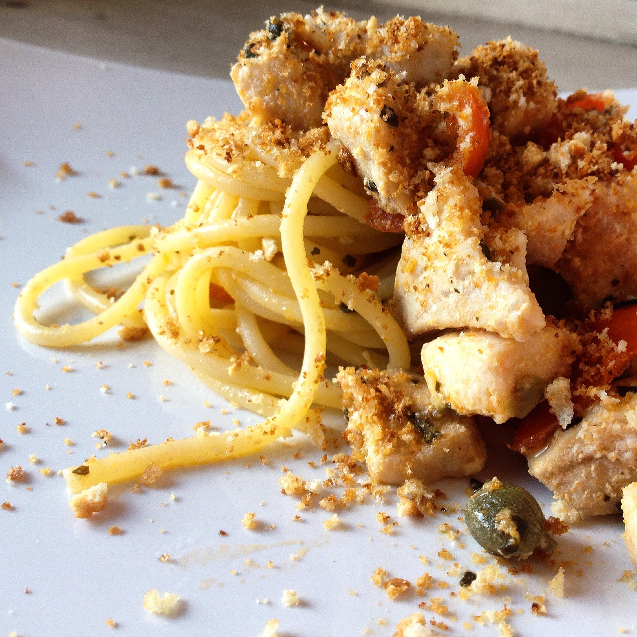 spaghetti spada e pomodorini