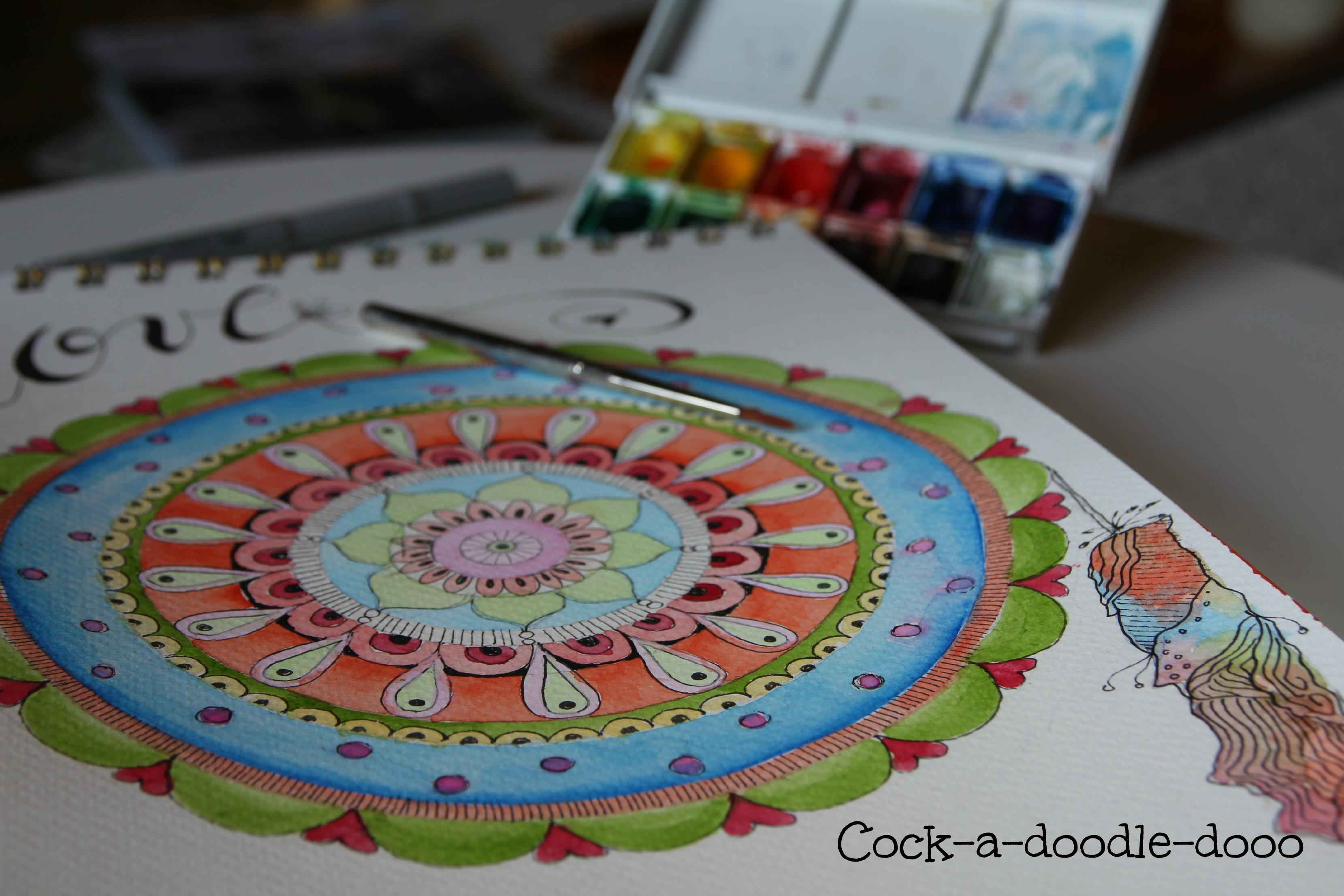 cock-a-doodle-dooo mandala