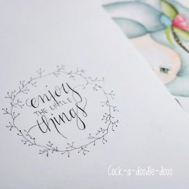 enjoy the little things - motivational dolls