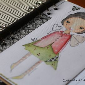 divisori per agenda dipinti a mano - handdrawn and handpainted deviders for planners